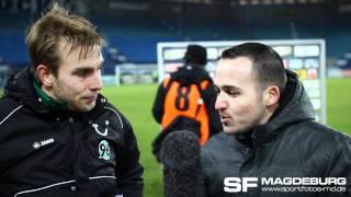 Kurzinterview mit Lars Fuchs - 1. FC Magdeburg gegen Hannover 96 II 1:2 (1:1) - www.sportfotos-md.de