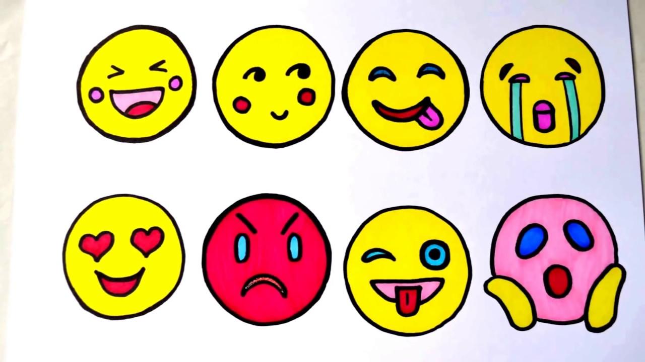 Emoji Ifadeler Emojiler Nasıl çizilir Ve Renklendirilir Youtube