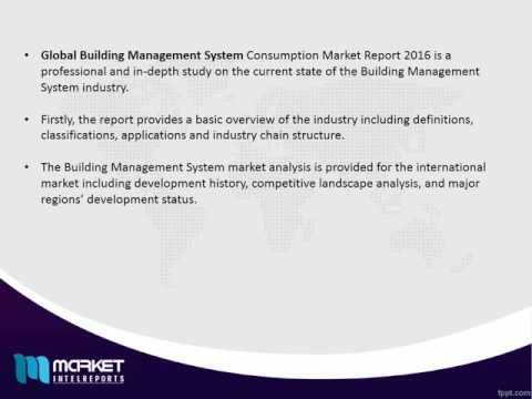 Global Building Management System Market with business strategies and analysis 2016