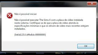 Como Resolver Os Erros Do The Sims 4 !! | (Placa de Video, Parou de Funcionar) !! RESOLVIDO