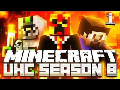 Minecraft UHC SEASON 8 (ULTRA HARD CORE) #1 with Preston, Vikkstar & Nadeshot