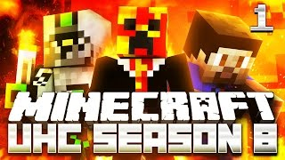 Minecraft UHC SEASON 8 (ULTRA HARD CORE) #1 with Preston, Vikkstar & Nadeshot