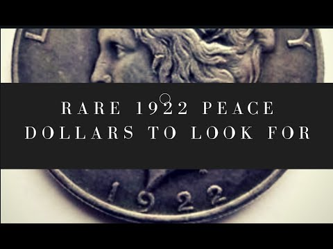 Rare 1922 Peace Dollars You Should Be Looking For!