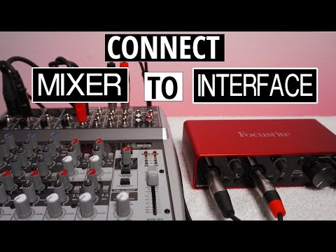 Connect Mixer To Audio Interface For Recording