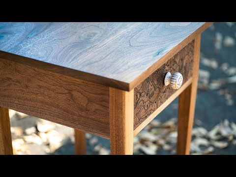 Building an End Table with Handcarved Designs // DIY