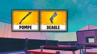 MAP AIM MELEE GENERAL FORTNITE POMPE DEAGLE!