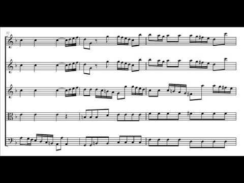 Vivaldi - Concerto op. 4 n. 9 (La stravaganza) - I: Allegro (score)