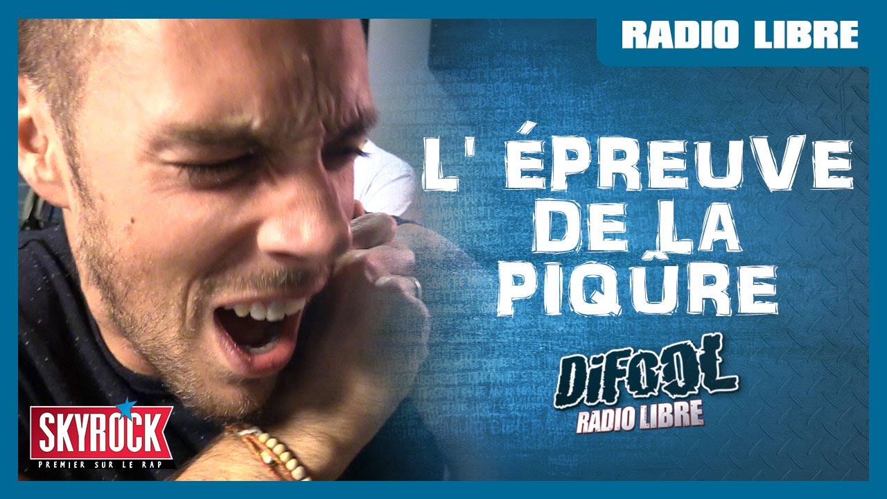L'épreuve de la piqûre en direct et pour tout le monde ! #LaRadioLibre
