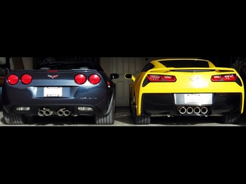Chevrolet Corvette Z06 C6 Vs Corvette Z06 C7 || Acceleration and Exhaust Sound