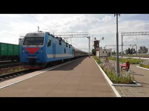 Прибытие ЭП1М-466 с поездом 062Ч Москва - Нальчик