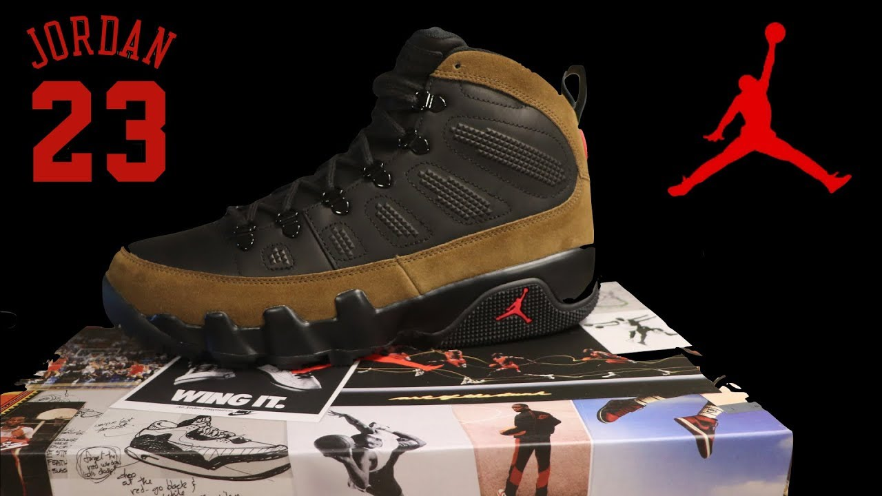 timeless design 59e95 1c75d Jordan 9 retro boot NRG -Olive