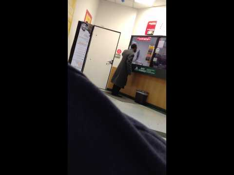 Dissatisfied Man At Check Cashing Place GOES OFF!!