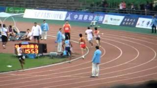 2010 広州アジア大会 男子4x400mリレー 2. 日本(石塚-藤光-廣瀬-金丸) 3'02
