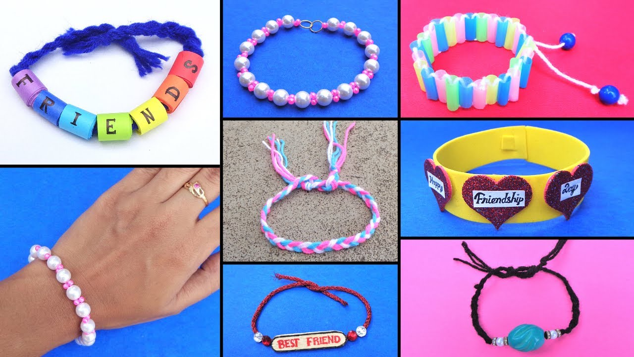 DIY 7 Easy Friendship Bracelets for beginners/ How to make Friendship Bands at home