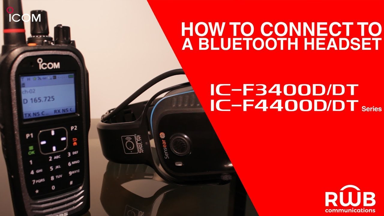 How to Connect to a Bluetooth Headset: IC-F3400D/DT Series