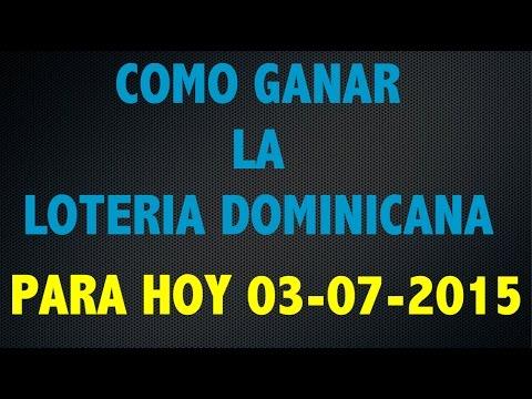 Para acertar los numeros ganadores de la loteria nacional dominicana
