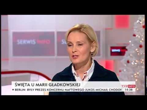 Maria Gładkowska o swoich przygotowaniach do świąt (TVP Info, 21.12.2013)