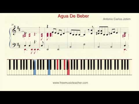How To Play Piano: Antonio Carlos Jobim Agua De Beber Piano Tutorial  Ramin Yousefi