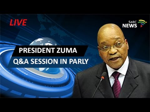 President Zuma answers questions in Parliament: 17 May 2016