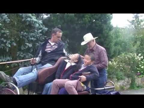 20140823 Kutschenfahrt der Familie Guo mit der Begleitung von Herren Ricker in Aichbühl bei Bad Schu