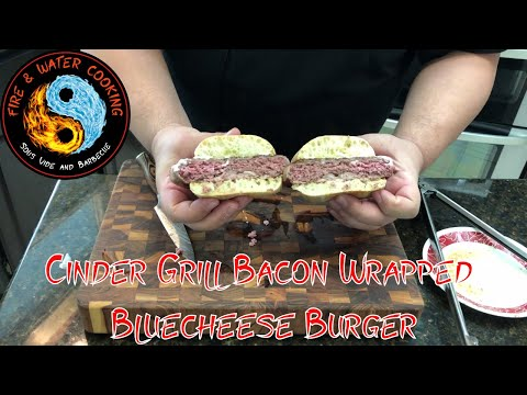 cinder-grill-bacon-wrapped-blue-cheese-burger-#nationalhamburgerday