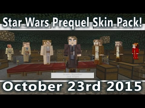 Minecraft - Star Wars Prequel Skin Pack Is Out! (October 23rd 2015)