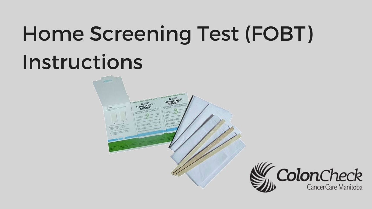Coloncheck Home Screening Test Instructions Youtube