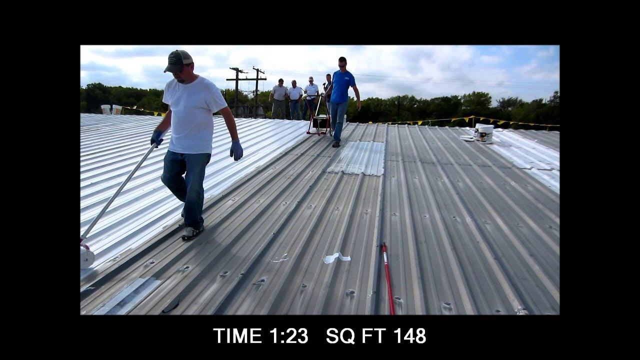 Profile Roller With Metal Roof Coating Demo Youtube