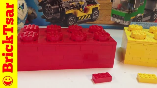 Lego Förvaringshuvud Large ~ LEGO Tutorial Building a Large Scale 2×4 Red Brick 6 times bigger YouTube