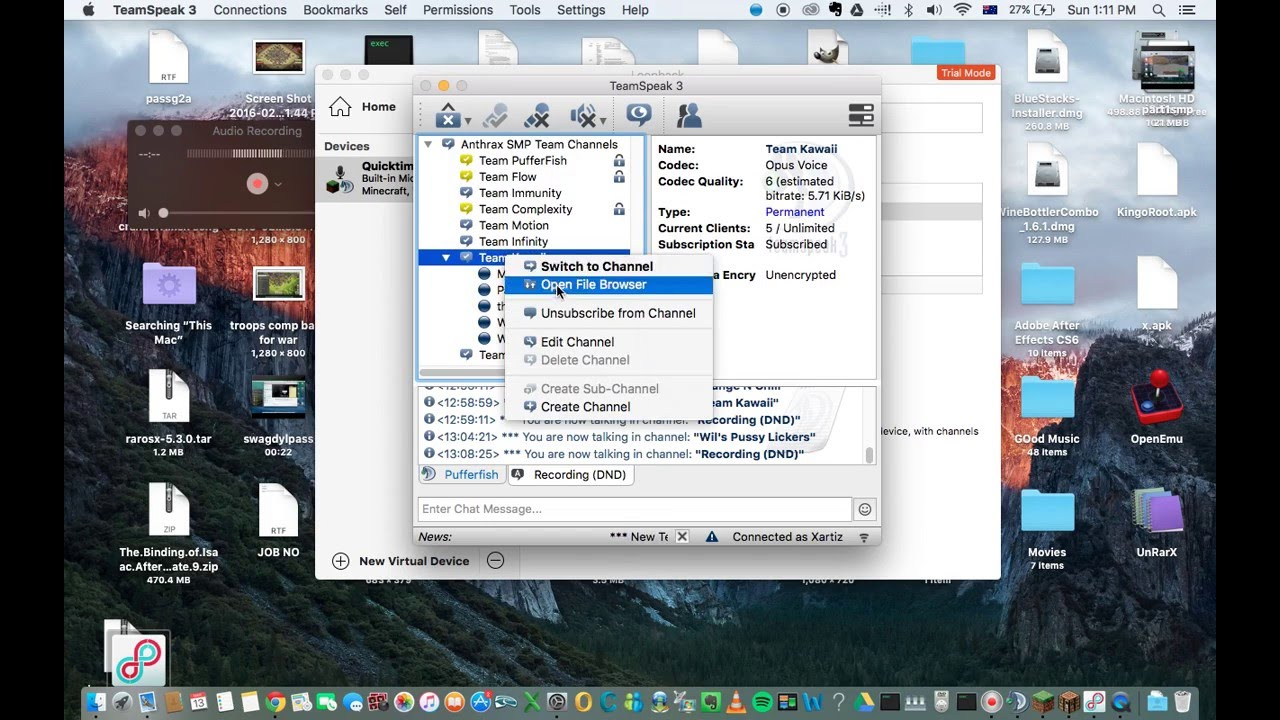 Quicktime How To Record Audio And Screen!! [easy] [mac] [free] [no Lag]  [loopback]