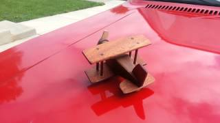 Solar Powered Wooden Toy Airplane