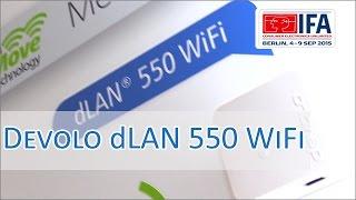 IFA 2015: Devolo dLAN 550 WiFi vorgestellt