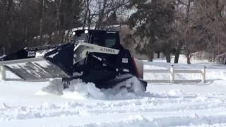TEREX PT75 TRACK SKID STEER IN SNOW