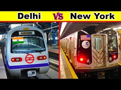 Delhi Metro vs New York City Subway Comparison