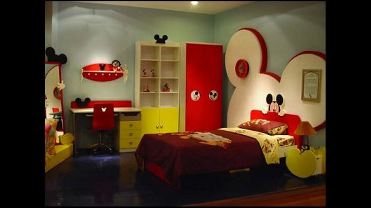 Mickey mouse bedroom decor mickey mouse room decor for for Bedroom bed decoration