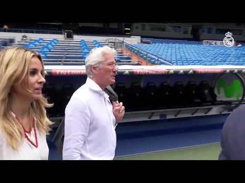 Richard Gere visits the Santiago Bernabéu!