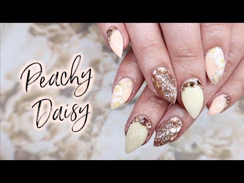 Daisy Nail Art Tutorial   Gel Nails thumbnail
