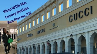 Shop With Me: Designer Outlet|Luxury Outlets In San Marcos, TX| Gucci, YSL, Versace \u0026 Tory Burch
