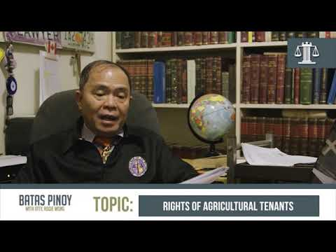 Rights of Agricultural Tenants