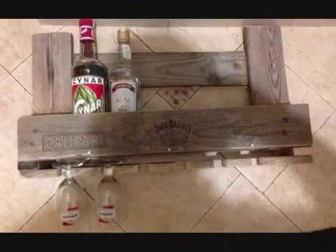 Come costruire un portabottiglie con un pallet youtube - Portabottiglie in legno fai da te ...