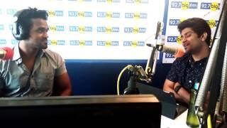 The talented Anand Aravindakshan with RJ GiriGiri - Kodi movie special