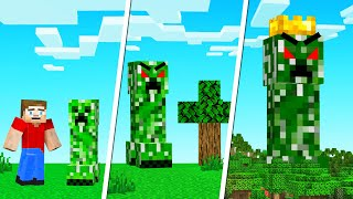 We BATTLED The KING CREEPER In MINECRAFT!