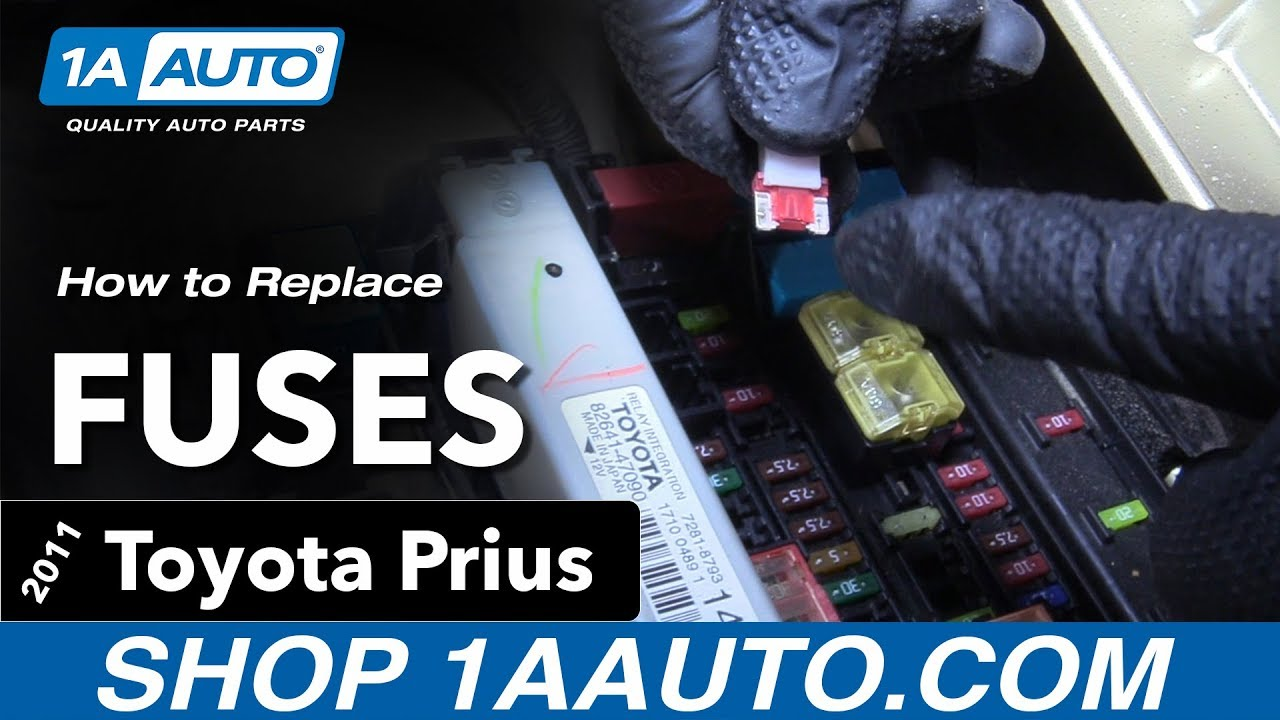 How To Replace Fuses 10-15 Toyota Prius