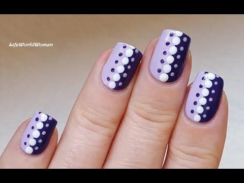 dotting tool nail art #11 - easy