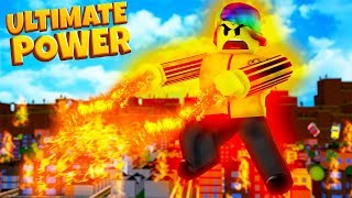 DESTROYING the whole SERVER with ULTIMATE POWER (roblox secret power simulator)