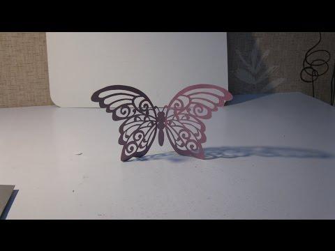 Резная бабочка из бумаги своими руками.