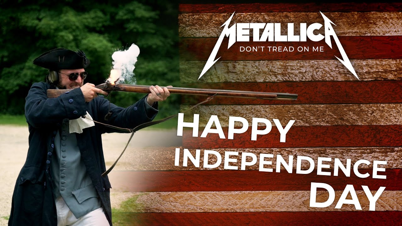 HAPPY INDEPENDENCE DAY! - Metallica, Don't Tread on Me, Gun Cover! #metallica #gundrummer