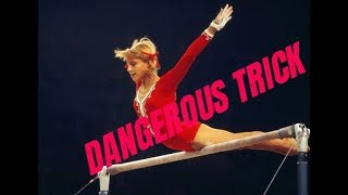 PROHIBITED elements in GYMNASTICS. FATAL TRICK of Olga Korbut.