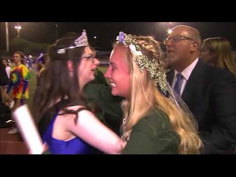 Dana Hills High School celebrates their homecoming queen