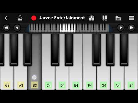 Pink Panther Theme - Easy Mobile Piano Tutorial   Jarzee Entertainment